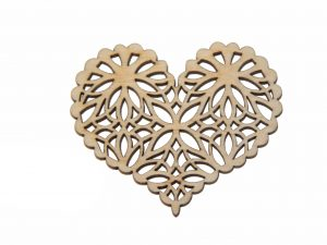 Openwork Wooden Heart NO6
