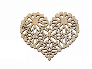 Openwork Wooden Heart NO6