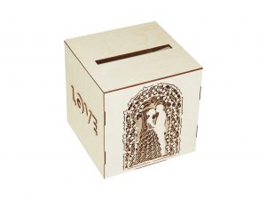 Wooden Piggy Bank Box NO12