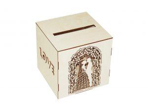 Wooden Piggy Bank Box NO12
