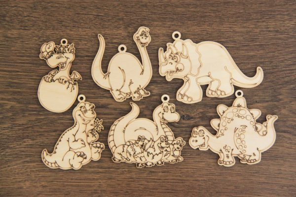 Dino Tags 6 Pcs NO13